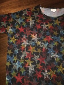 Americana Large Tunic Irma Red 4th Stars Nwt White Lularoe Blue Black American qRExpCg