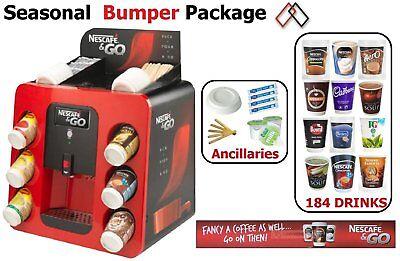 Nescafe And Go Machine 2go Bumper Seasonal Package 1600 Items Drinks Vending Ebay