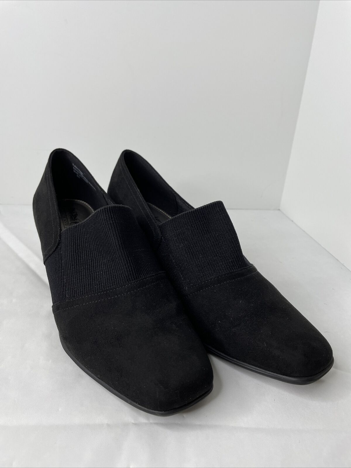 Coach And Four Black Dress Casual Slip On Shoes with Heal Size 8.5 ~ Classy