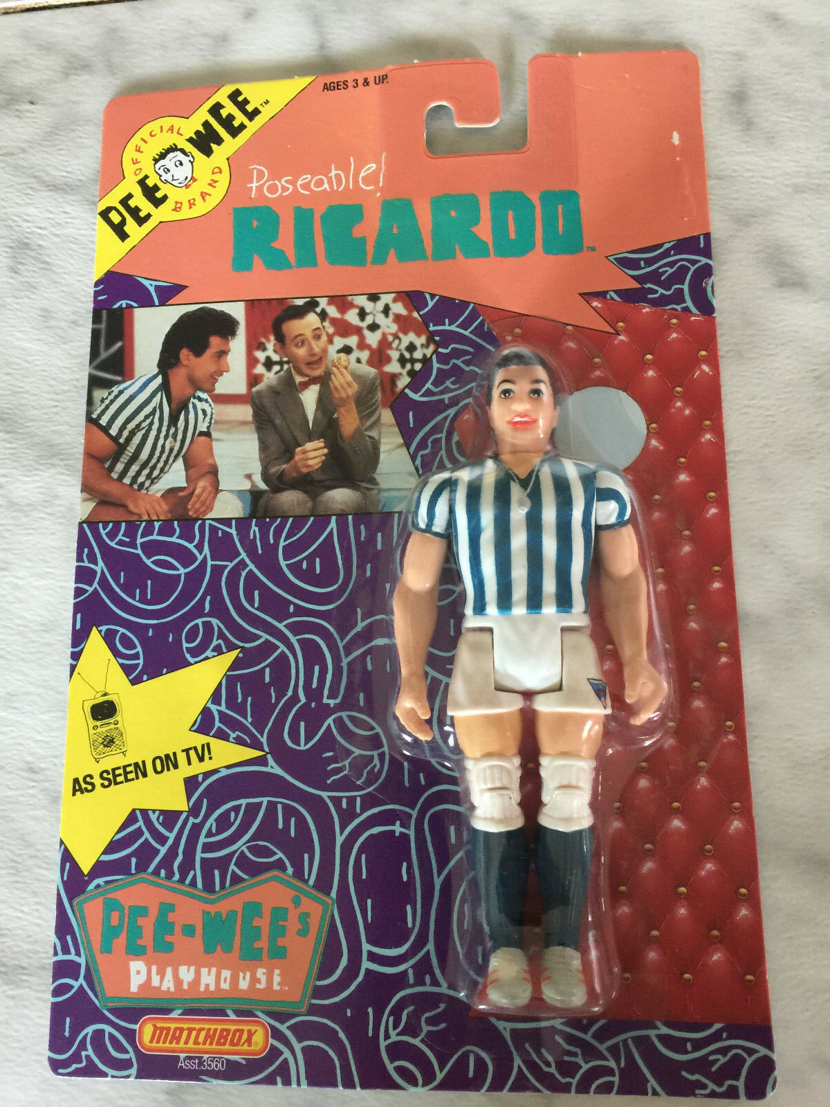 1988 PEE WEE Playhouse Poseable RICHARDO Matchbox (NEW)