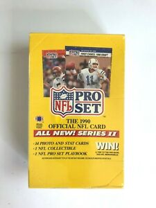 1990-NFL-PRO-SET-FOOTBALL-SERIES-II-WAX-PACK-BOX-FACTORY-SEALED