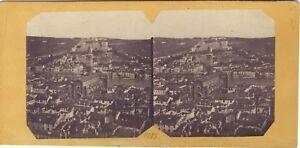 Verona Panorama Da Verona Italia Foto Stereo Albumina Ca 1860