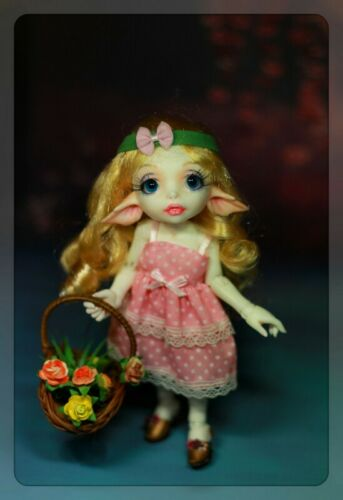 1//7 BJD DOLL Little Cute Free Eyes Face Up Resin Toys Gift