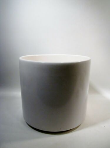 """Vtg MIDCENTURY Architectural GAINEY POTTERY 10/"""" Gloss White PLANTER"""