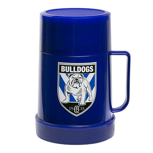 Canterbury Bulldogs NRL Thermos Flask with Lid to use as Mug Cup Man Cave Work