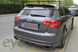 audi a3 sportback 03 12 rs3 5 porte 8p aileron becquet spoiler ebay. Black Bedroom Furniture Sets. Home Design Ideas