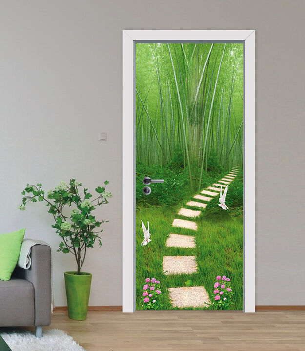 3D Bambus Tür Wandmalerei Wandaufkleber Aufkleber AJ AJ AJ WALLPAPER DE Kyra | Starke Hitze- und Hitzebeständigkeit  | Günstige Preise  |  614a14