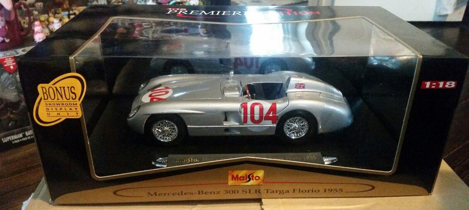 Maisto 1 18 Premiere Edition 1955 Mercedes-Benz 300 SLR Targa Florio MIB