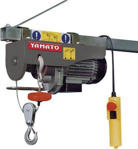 Paranco-elettrico-a-fune-18-9-metri-500-Watt-portata-125-250-Kg-marca-YAMATO
