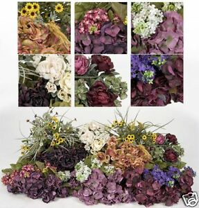 Bulk artificial silk flowers hydrangea lilac rose sale ebay image is loading bulk artificial silk flowers hydrangea lilac rose sale mightylinksfo