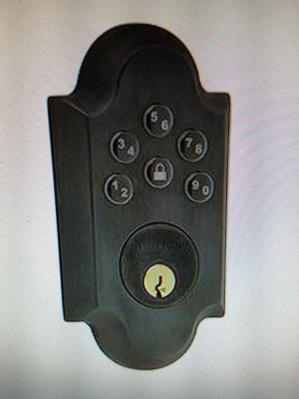 Baldwin 8252.402.AC3 Boulder Keyless Entry Cylinder Distressed Oil Rubbed Bronze