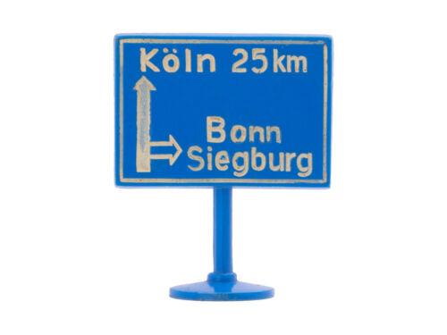 - 7701 Siku Plastik Zubehör Schild V277 Hinweis v Ausfahrt Köln Bonn BAB