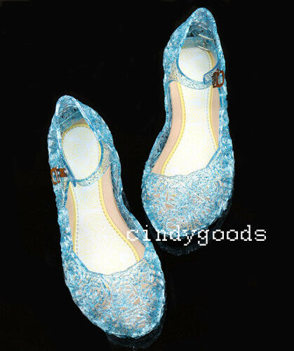 For Christmas Girl Dress up Sofia Elsa Fancy Cosplay Jelly Shoes Kids Sandals