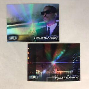 Details About Men In Black Ii Inkworks Complete Mib Neuralyzer Foil Chase Card Set N1 N2