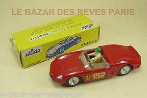 SOLIDO-Francia-Serie-100-FERRARI-2-5-El-caja-REF-129