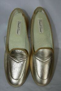 5589e6744bfc1 Image is loading Daniel-Green-Meg-Gold-Leather-slippers-Women-039-