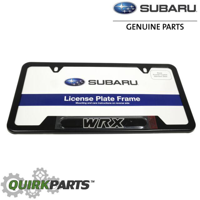 2016 Subaru Matte Black License Plate Frame Impreza WRX STI OEM ...