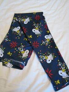 CHRISTMAS Snoopy & Woodstock  Peanuts Leggings NWT SIZE XL
