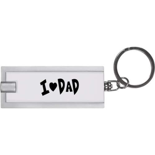 """KT00001365 /""""J/' aime papa/"""" porte-clé DEL torche"""