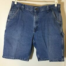 Men's Carhartt Blue Denim Carpenter Short Pants B184 Size 38