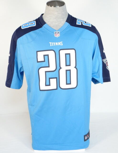 8618423d Nike NFL On Field Tennessee Titans Johnson 28 Blue Football Game Jersey  Mens NWT