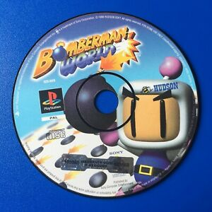 Bomberman-World-Disc-Only-schwarz-Label-Sony-Playstation-One-ps1-PAL