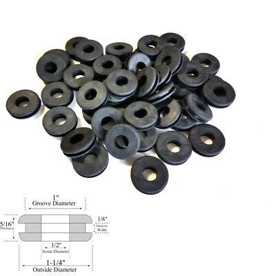 "Fits 5//8/"" Panel Holes 1//8/"" Gw Lot of 50 Rubber Grommets 3//8/"" Inside Diameter"
