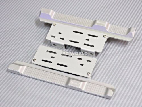 For Axial SCX10 II Side Step Running Boards SKID PLATES Left Right  Silver