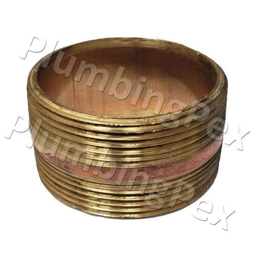 "Merit Brass 2/"" x 1-1//4/"" inch MNPT Butt Global Brass Nipple"
