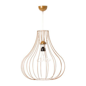 Details About Design Leuchte Scandi Hangelampe Metall Hangeleuchte Lampe Wohnzimmer Gold