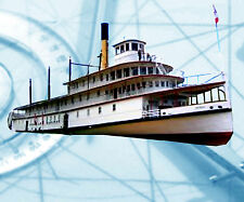 RADIO CONTROL MODEL BOAT PLAN B.C.LAKE STEAMER