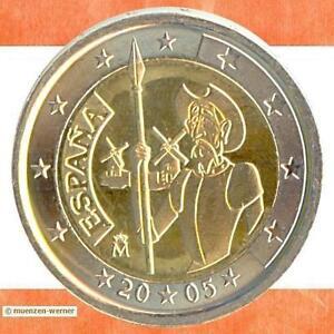 Sondermuenzen-Spanien-2-Euro-Muenze-2005-Don-Quichote-Sondermuenze-Gedenkmuenze