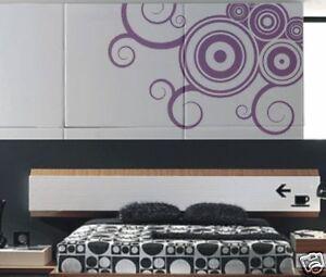 Design-Swirl-Wandaufkleber-Wandtattoo-Wanddeko-S9-Flur-Aufkleber-Deko-52cm