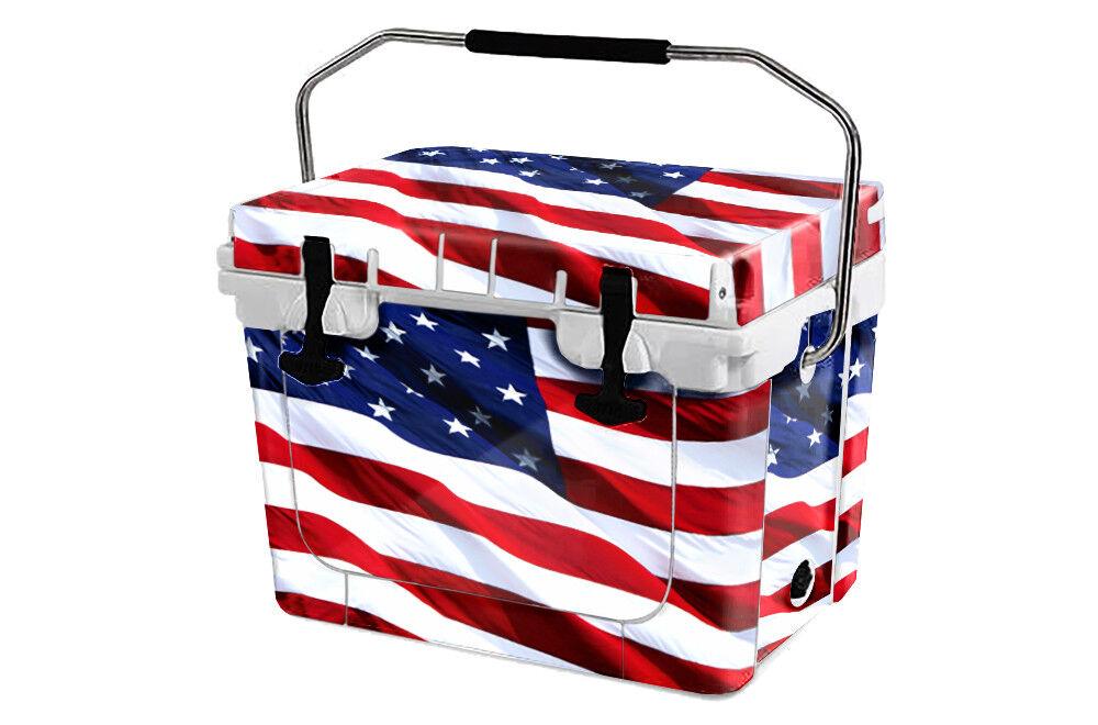 USATuff Custom Cooler Wrap 'Fits New USA Mold' RTIC 20QT FULL USA New Stars 937465