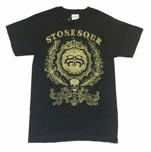 Stone-Sour-Made-Of-Scars-Ornate-Logo-Black-T-Shirt-New-Official-Corey-Taylor