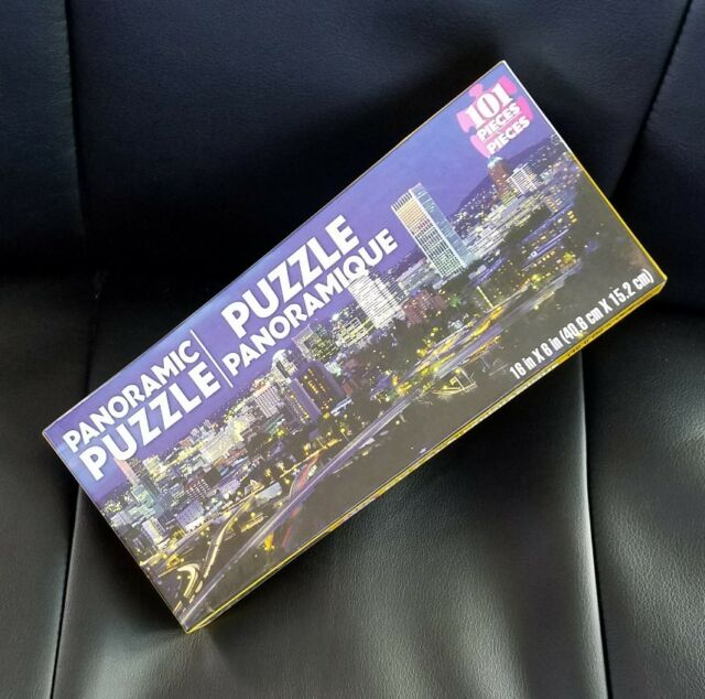 "PANORAMIC Jigsaw Puzzle 101 Pieces 16"" X 6"" City Skyline"