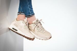 best service b7951 5ce7f Image is loading AUTHENTIC-NIKE-AIR-MAX-90-Premium-Oatmeal-Sail-