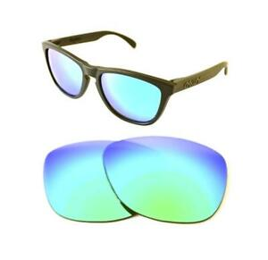 NEW-POLARIZED-CUSTOM-GREEN-LENS-FOR-OAKLEY-FROGSKINS