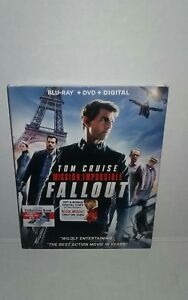 MISSION IMPOSSIBLE FALLOUT (Blu-ray+DVD+Digital) Brand New SEALED 32429309822