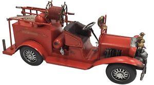 De-Coleccion-Clasico-Grandes-Rojo-Fuego-Motor-Tin-Metal-38cm-longitud-Coleccionable