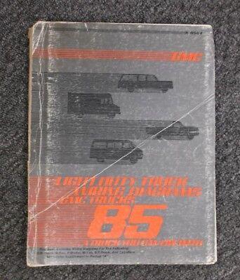 1985 GMC K1500 K2500 K3500 Suburban Factory Electrical Wiring Diagram Manual  | eBay  eBay