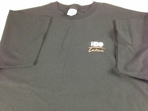 HBO-Latino-T-Shirt-Mens-XL-Movie-Channel-VTG-90s-Black-Red-White-Tee-100-Latino