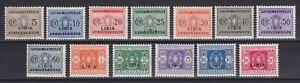Libia 1934 Segnatasse n.12-24 serie 13 val. nuova MLH* g. originale linguellata