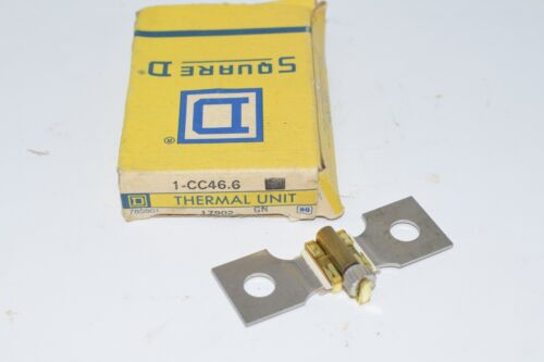 NEW SQUARE D 1-CC46.6 THERMAL OVERLOAD UNIT RELAY