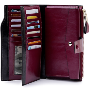 Women-Genuine-Leather-Long-RFID-Blocking-Wallet-Money-Card-Holder-Clutch-Purse