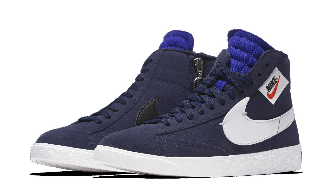 Nike Blazer  Mid Rebel NavyBQ4022 -401.Scarpe da donna (NO BOX LID) NUOVO  online economico