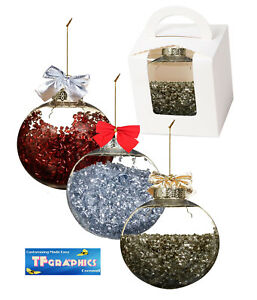 Ebay Christmas Baubles.Details About Personalised Christmas Baubles Your Name Gift Box Tree Decoration Bauble Gift