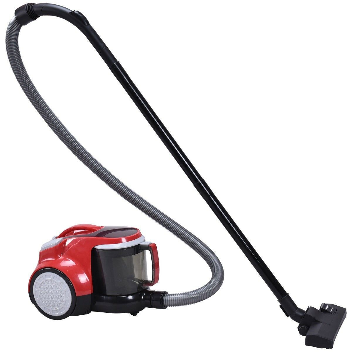 Handheld Upgraded Bagless Canister Cord Rewind Vacuum Cleaner w  HEPA Filtration