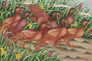 Hand-painting-Balinese-Ducks-Birds-311