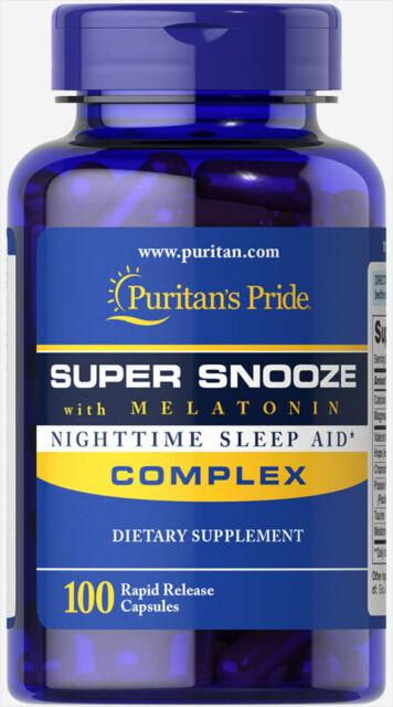 Puritan's Pride Super Snooze with Melatonin - 100 Capsules